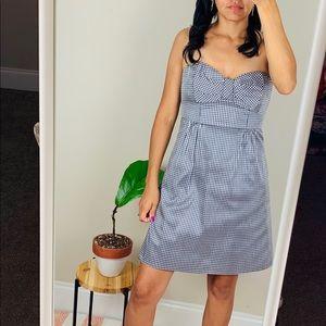 Gingham silk dress